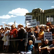 July 11, 1962 Rally in support of physicians (Saskatchewan Archives Board)